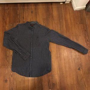 Ben Sherman Men's Gingham Button-Up Shirt Sz S